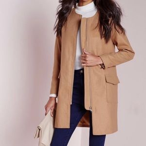 MissGuided Camel Coat US sz. 6